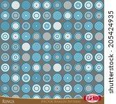 rings based seamless pattern. | Shutterstock .eps vector #205424935