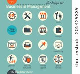 business icon set. software and ... | Shutterstock .eps vector #205429339