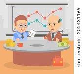 business businessman client... | Shutterstock .eps vector #205431169