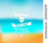 summer vector typography.... | Shutterstock .eps vector #205432699