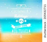 summer vector typography.... | Shutterstock .eps vector #205432711