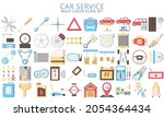 car service multi color icons...
