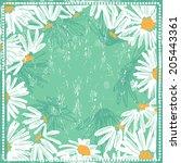 hand drawn elegance fresh... | Shutterstock .eps vector #205443361