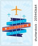 summer holidays background....   Shutterstock .eps vector #205443664