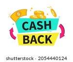 cashback banner. cashback or... | Shutterstock .eps vector #2054440124