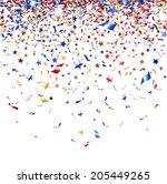 Colored Confetti On White...
