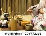 traditional tea ceremony in... | Shutterstock . vector #205452211