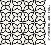 floral vector geometric... | Shutterstock .eps vector #205454017