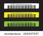 bar code.  illustration | Shutterstock .eps vector #205457557