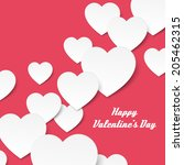 card with volume hearts.... | Shutterstock .eps vector #205462315