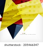 modern 3d abstract shapes on... | Shutterstock .eps vector #205466347