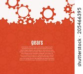 abstract gear background.... | Shutterstock .eps vector #205466395