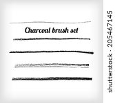 hand drawn charcoal brush set.  ... | Shutterstock .eps vector #205467145