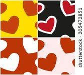 vector set of seamless patterns ...   Shutterstock .eps vector #205472851