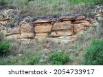 Rock Outcropping In The Hill In ...