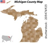 A large and detailed map of the State of Michigan with all counties and main cities.