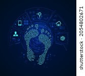 concept of digital footprint ...   Shutterstock .eps vector #2054802671