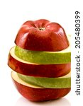 apple slices in one | Shutterstock . vector #205480399