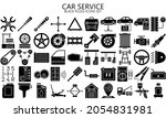 car service black filled icons...