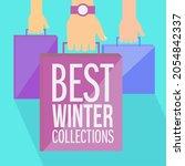 best winter collections   flat...   Shutterstock .eps vector #2054842337
