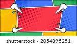 comic pop art panel background...   Shutterstock .eps vector #2054895251