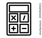 calculator icon  outline...