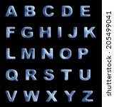 blue jelly stylized alphabet... | Shutterstock . vector #205499041