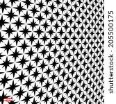 abstract black white background ... | Shutterstock .eps vector #205500175