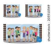 group of people at the gym set  ... | Shutterstock .eps vector #205510549