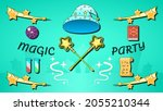 abstract magic background party ...