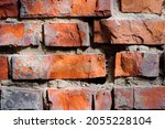 Red Old Brick Wall Background ...