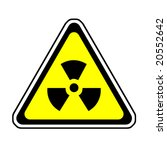 radiation warning sign  radio
