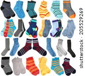 Selection Of Various Socks On...
