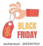 black friday label sale... | Shutterstock .eps vector #2055347924