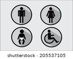 restroom symbol icon of man... | Shutterstock .eps vector #205537105