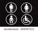 restroom symbol icon of man... | Shutterstock .eps vector #205537111