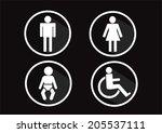 restroom symbol icon of man... | Shutterstock .eps vector #205537111