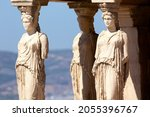 Detail Of Caryatid Porch On The ...