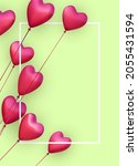 green vertical banner with... | Shutterstock .eps vector #2055431594