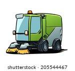 street sweeper | Shutterstock .eps vector #205544467