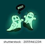 green glow in the dark playful... | Shutterstock .eps vector #2055461234