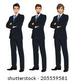 set of full length body... | Shutterstock .eps vector #205559581