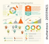 hunting animals wildlife... | Shutterstock .eps vector #205559821