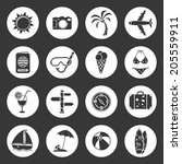 travel icons | Shutterstock . vector #205559911