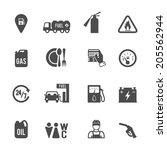 gasoline diesel fuel pump... | Shutterstock .eps vector #205562944