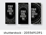 set of vector vertical posters... | Shutterstock .eps vector #2055691391