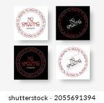 no smoking  vector illustration ... | Shutterstock .eps vector #2055691394