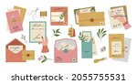 set of colourful envelopes with ...   Shutterstock .eps vector #2055755531