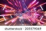 futuristic space landscape. | Shutterstock . vector #205579069
