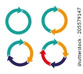 set arrows rotation circle | Shutterstock .eps vector #205579147